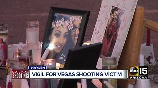 Hometown holds vigil for Arizonan injured in Las Vegas shooting - Video