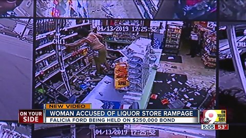 Woman accused of liquor store rampage in Colerain