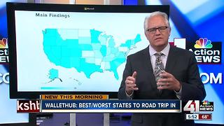 Best and worst states to road trip in - Video