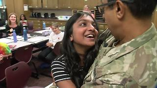 Soldier surprises his Jenks daughters