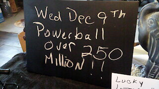 Powerball Predictions Lottery Lucky Numbers December 9th OVER 200 MIllion
