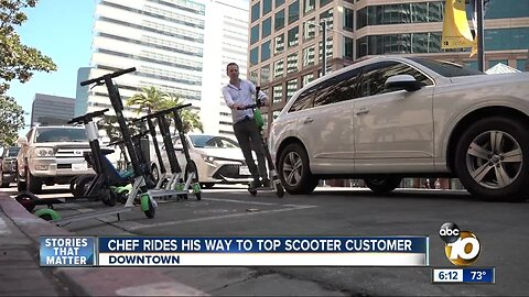 Chef rides his way to top scooter customer