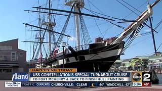 Historical USS Constellation setting sail for restoration - Video