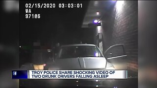 VIDEO: 2 alleged drunk drivers fall asleep simultaneously at Troy McDonald's drive-thru