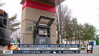 Blowtorch bandits target ATM machine - Video