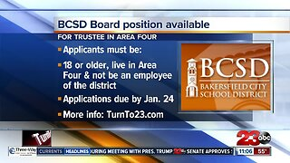 Bakersfield City School District board position available