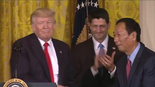 President Trump at Foxconn Announcement - Video