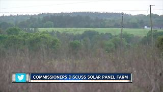 Comissioners discuss solar panel farm