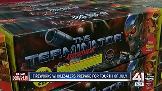 Fireworks wholesalers prepare for Fourth of July