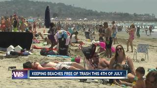 Keeping beaches free of trash - Video