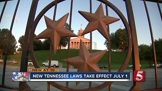 New Laws Taking Effect In Tennessee July 1 - Video