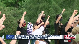 Community leaders discuss next steps following rallies, protests