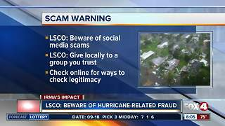 Lee County Sheriff's deputies warning against fraud in wake of Hurricane Irma