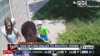 Three Children Return Wallet Full Of Cash To Its Rightful Owner - Video