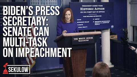 Biden's Press Secretary: Senate Can Multi-Task on Impeachment
