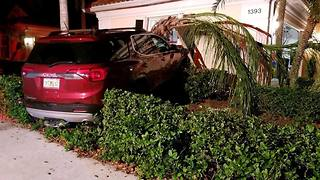 Car crashes into home; Martin County's 15th crash in 4-hour span - Video