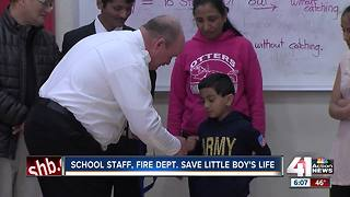 School staff, fire department save little boy's life - Video