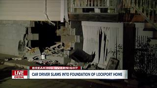 Lockport police investigating how driver crashed into home - Video
