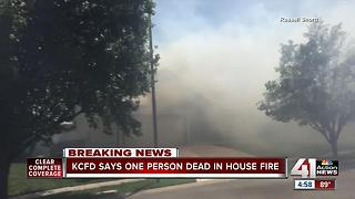 One dead after house fire in KCMO