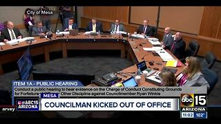 Ryan Winkle removed from Mesa office - Video