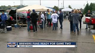Brewers fans confident heading into Game 2 of the NLDS