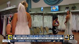 Baltimore bridal stores step in to help Alfred Angelo brides - Video