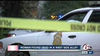 Woman found dead in Indy west side alley - Video