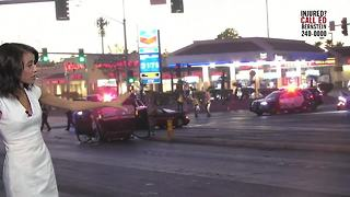Las Vegas police involved in crash