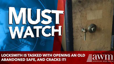 Locksmith Is Tasked With Opening An Old Abandoned Safe, And Cracks It!