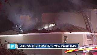 Christmas tree fire distroys home