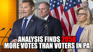 Analysis finds 205k more Votes than Voters in PA!