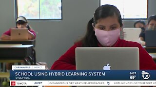 South Bay school uses hybrid learning system for in-class instruction