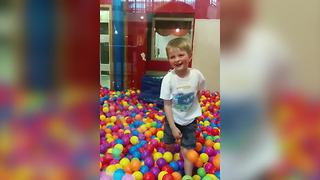 Little Boy's Ball Pit Fail - Video