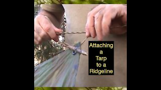 Attaching a Tarp to a Ridgeline