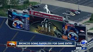 Denver Broncos do away with paper tickets for 2018 season