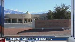 Gun found at Pahrump middle school on Tuesday