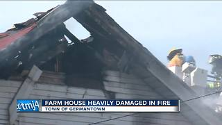 Farm house heavily damaged in Germantown - Video