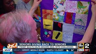 Seniors Helping Seniors With Fidget Quilts - Video