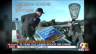 10-year-old leads police on chase - Video