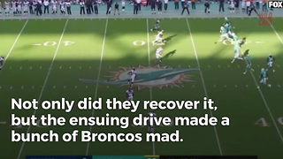 Broncos Players Sound Off On Dolphins Onside Kick - Video