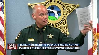 Pinellas Sheriff defends decision to not arrest 'Stand Your Ground' shooter - Video