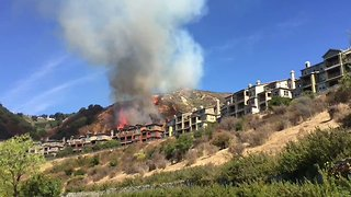Oakland Hills Fire Burns Close to Homes