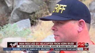 Helicopter used to rescue man from Kern River - Video