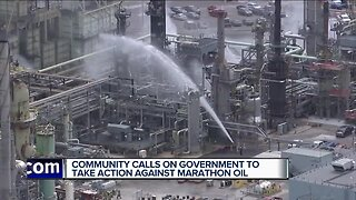 Community, environmental activists demand elected officials get answers from Marathon Oil