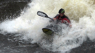 Freestyle Kayaker Takes On Crashing Waters - Video