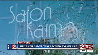 Salon owner fears for her life after series of violent attacks