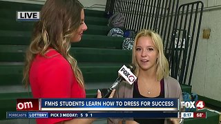 "Students at Fort Myers High School learn to ""Dress for Success"""
