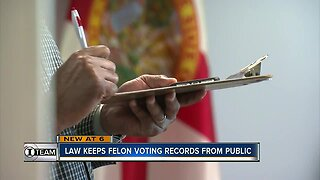 New law keeps felon voting records secret from the public
