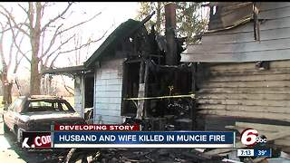 Husband and wife killed in early morning house fire in Muncie - Video