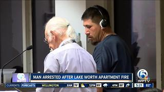 Suspect charged with strangling girlfriend, sets apartment on fire - Video
